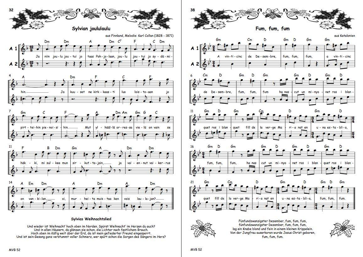 Englische Weihnachtslieder.Musikverlag Bornmann Spezialverlag Rund Um Die Blockflöte